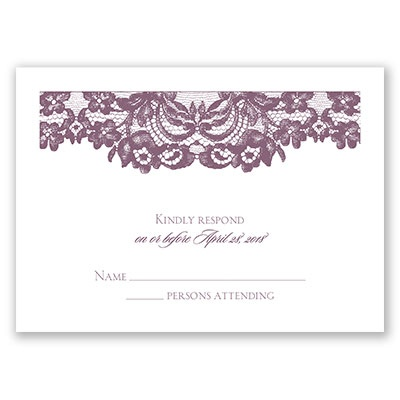Dressed in Lace - Response Card