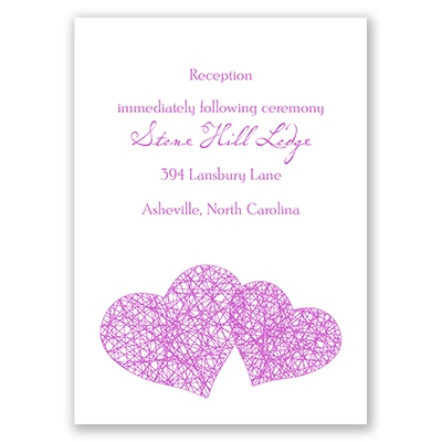 Entangled - Reception Card