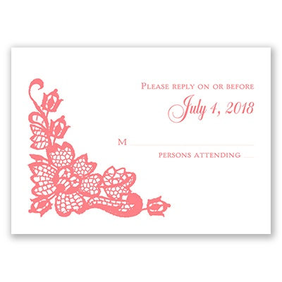 Lacy Floral - Response Card