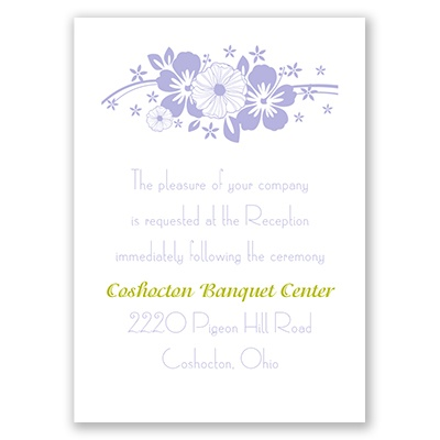 Flowers and Butterflies - Reception Card