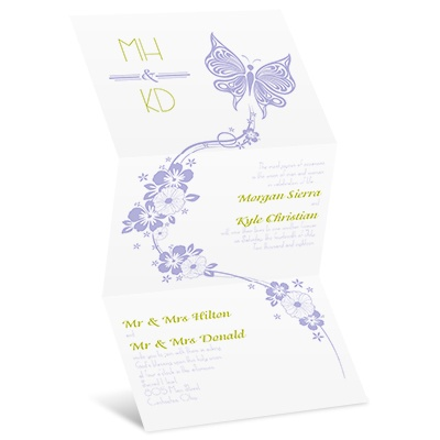 Flowers and Butterflies - Invitation