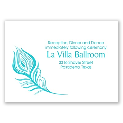 Feathered Details - Reception Card