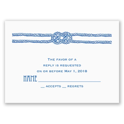 Nautical Love Knot - Response Card