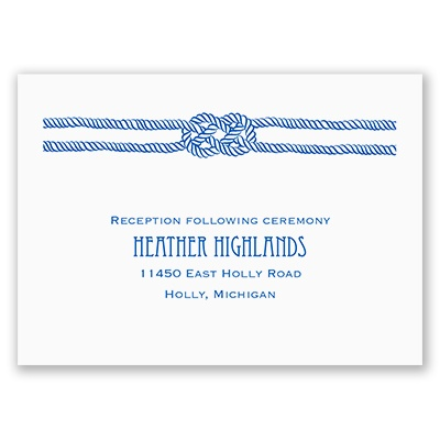 Nautical Love Knot - Reception Card