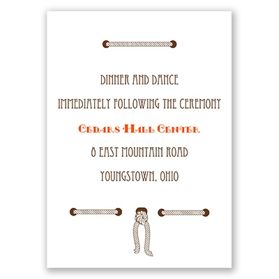 Horseshoe Heart - Reception Card