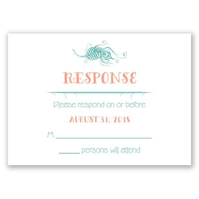 Peacock Whimsy - Response Card