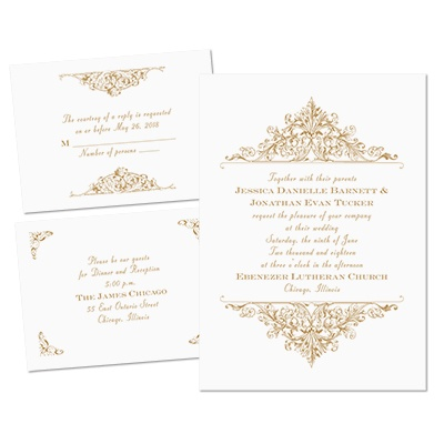 Vintage Victorian - Separate and Send Invitation