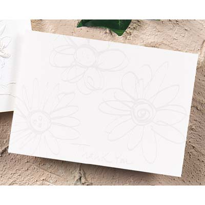 Pearl Embossed Daisies Thank You - Printed
