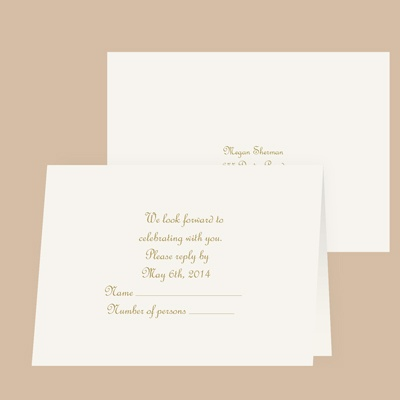 Pure Tradition - Response Card and Envelope