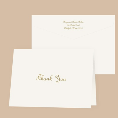 Pure Tradition - Thank You Card and Envelope