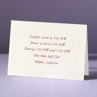 Crazy For Callas - Reception Card