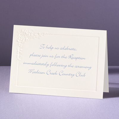 Cherished Roses - Reception Card