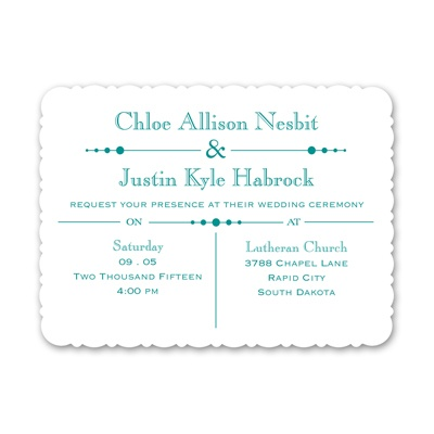 Skillfully Scalloped - Petite Invitation