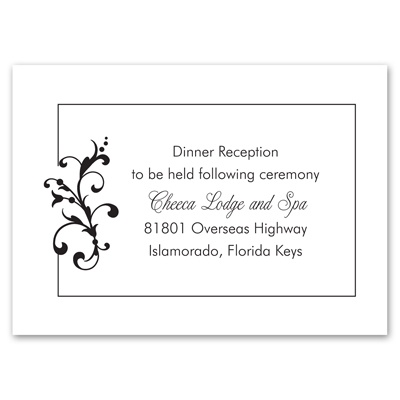 Filigree Perch - Reception Card