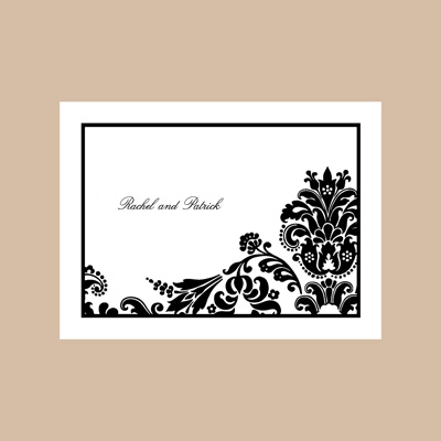 Dashing in Damask - Thank You Card and Envelope