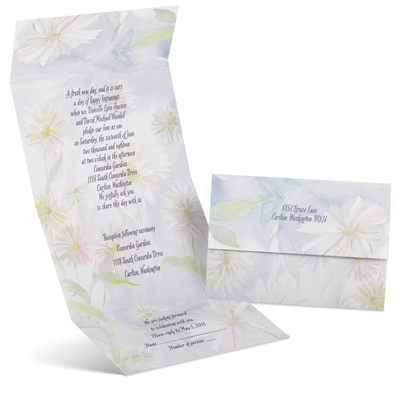 Ethereal Floral - Seal and Send Invitation