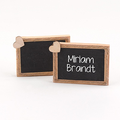 Natural Chalkboard Place Cards