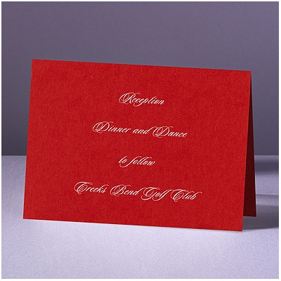 Are You Blushing - Reception Card