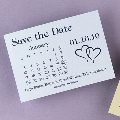 Heartfelt Save the Date Blue