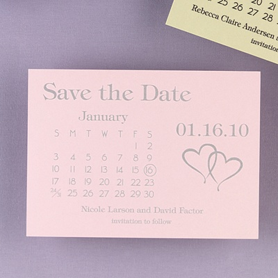 Heartfelt Save the Date Pink