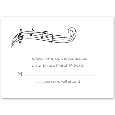 Sweet Melody - Response Card