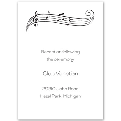 Sweet Melody - Reception Card