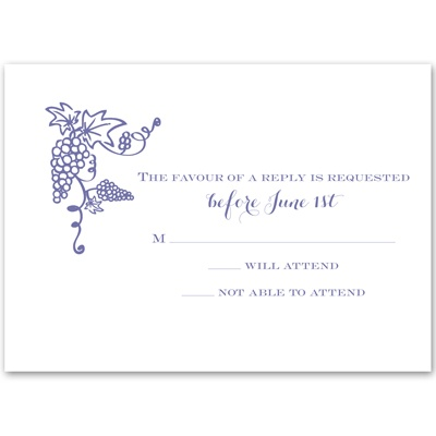 Vineyard Monogram - Response Card