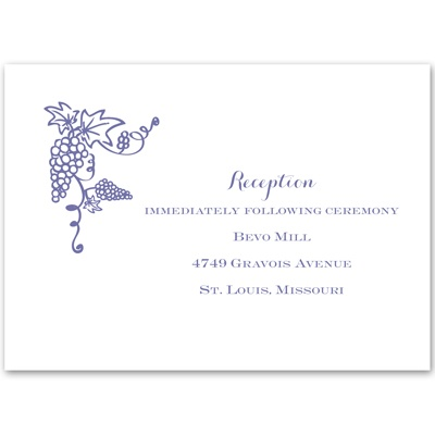 Vineyard Monogram - Reception Card