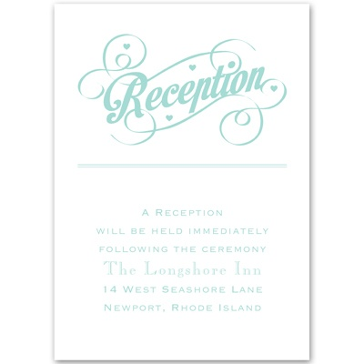 Happy Couple - Reception Card