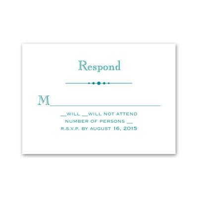 Skillfully Scalloped - Response Card and Envelope