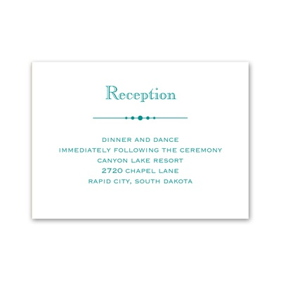 Skillfully Scalloped - Reception Card