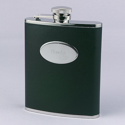 Leatherette And Stainless Steel Flask