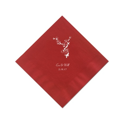 Classic Red Cocktail Napkins