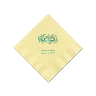 Yellow Cocktail Napkins