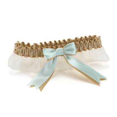 Custom Ribbons Ivory Garter