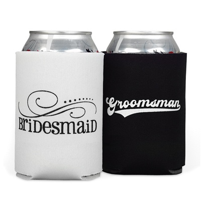 Bridesmaid and Groomsman Can Cooler Set
