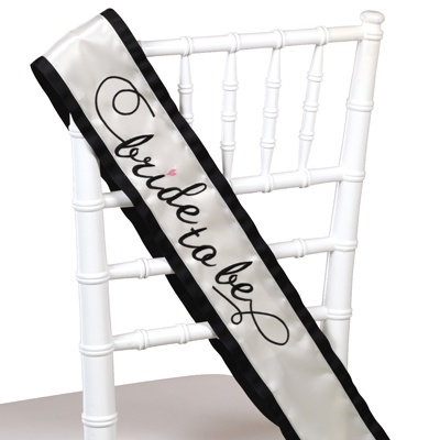 Ivory Bride-to-Be Sash