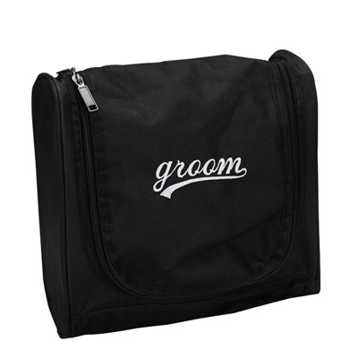 Black and White Groom Travel Bag