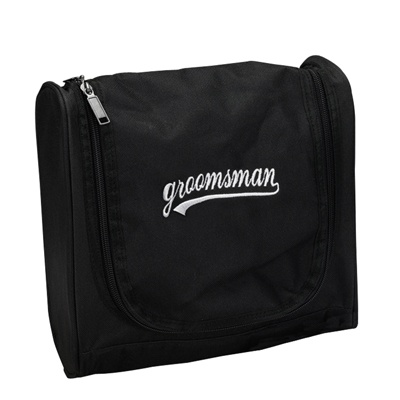 Black and White Groomsman Travel Bag