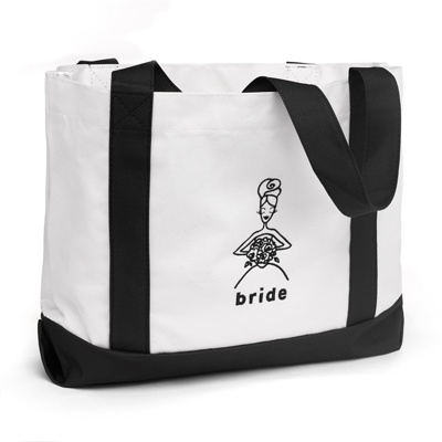 Bride Black and White Tote Bag