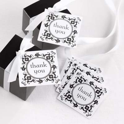 Flourish Frame Favor Tags