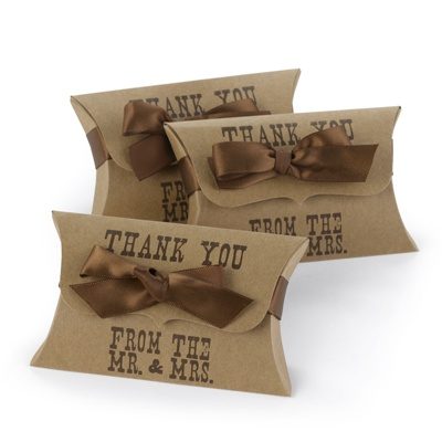 Western Style Pillow Box