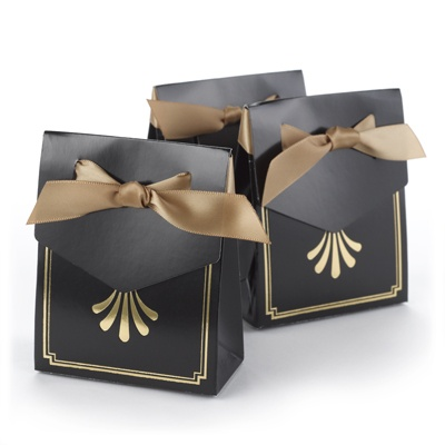 Gold Art Deco Tent Favor Boxes