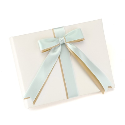 Custom Ribbons Ivory Guest Book