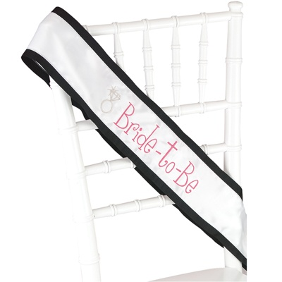 Diamond Ring Bride-to-Be Sash