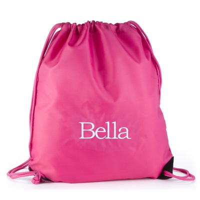 Fuchsia Drawstring Bag
