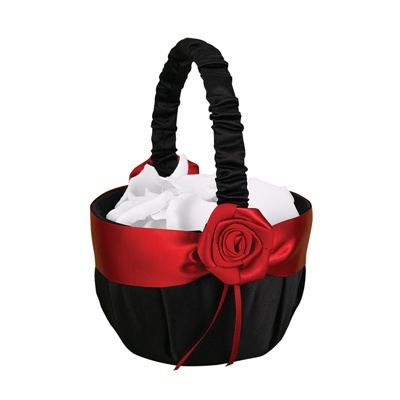 Midnight Rose Flower Basket