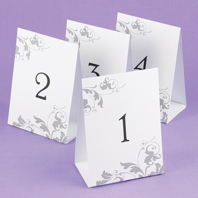Flourish Table Number Tents
