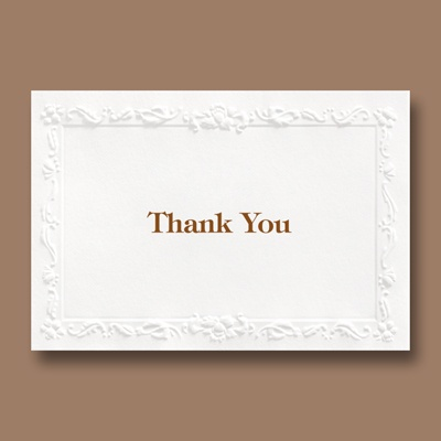 Wedding Whimsy - Thank You Card and Enveope