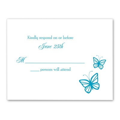 Delicate Butterflies - Response Card and Envelope